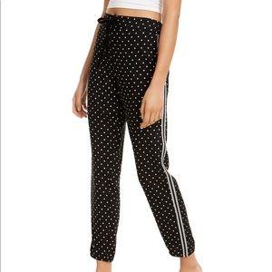 Jenni Metallic stripe pijama pants